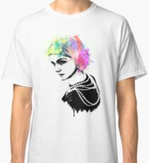 Coco Chanel Ink + Watercolor Portrait Art Classic T-Shirt