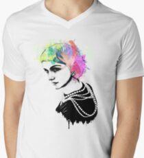 Coco Chanel Ink + Watercolor Portrait Art T-Shirt