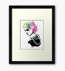 Coco Chanel Ink + Watercolor Portrait Art Framed Print