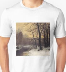 Anders Andersen - Lundby - A Winter River Landscape Unisex T-Shirt