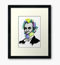 Abraham Lincoln Ink + Watercolor Portrait Framed Print