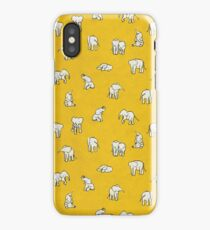 Elephants in Yellow iPhone Case/Skin