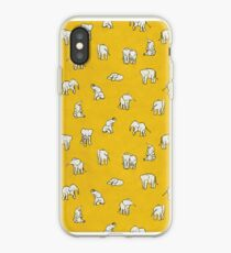 Elephants in Yellow iPhone Case