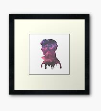 Colourful melting Sherlock  Framed Print