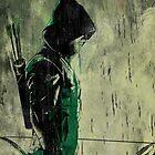 Green Arrow Grunge Art by BrokenPonyArt
