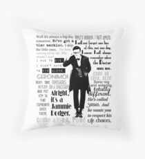 Elevent hour - on white Throw Pillow