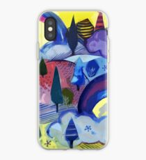 Dreamland - Landscape with Rainbows by Cecca Designs iPhone Case