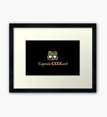 Captain Geekard Framed Print
