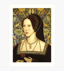 Anne Boleyn, Queen of England Art Print