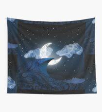 Zen Doodle Moonlit Dune Wall Tapestry