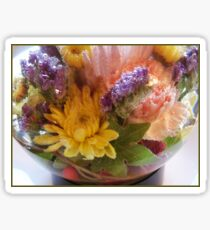 Flower Aquarium Bubbles And All Sticker