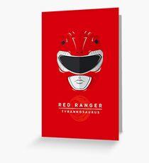 Red Ranger Greeting Card