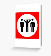 beating the competition Greeting Card