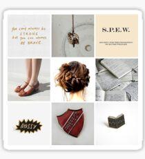 Hermione Granger inspired moodboard Sticker