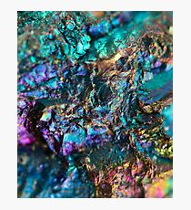 Turquoise Oil Slick Quartz Photographic Print