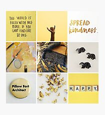 Hufflepuff moodboard Photographic Print