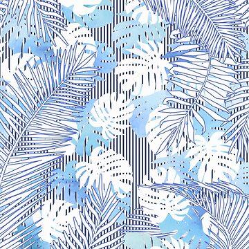 Blue tropical pattern by MartaOlgaKlara