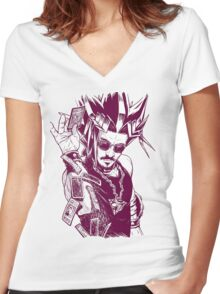 Yu-Gi-Oh #03 Women's Fitted V-Neck T-Shirt
