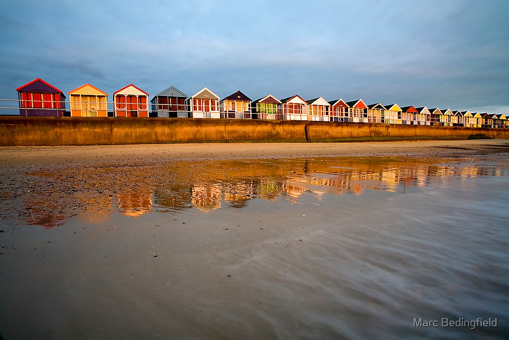 Southwold Beach Huts by Marc Bedingfield