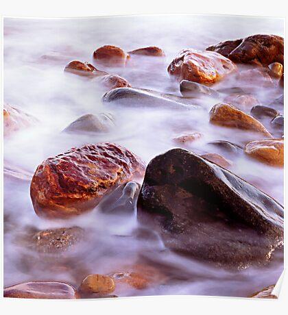 Crail Harbour Rocks Poster