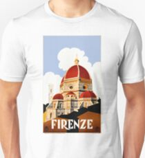 1930 Florence Italy Travel Poster Unisex T-Shirt