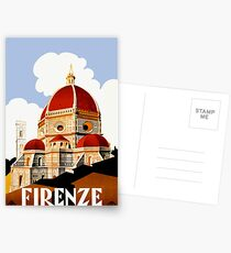 1930 Florence Italy Travel Poster Postcards
