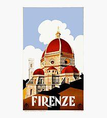 Lámina fotográfica Cartel de viaje de 1930 Florence Italy