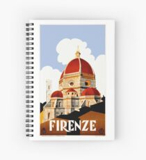 Cuaderno de espiral Cartel de viaje de 1930 Florence Italy