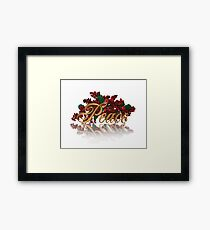 Peace for Christmas Framed Print