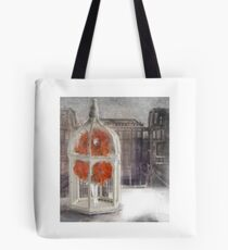 The girl in the birdcage Tote Bag