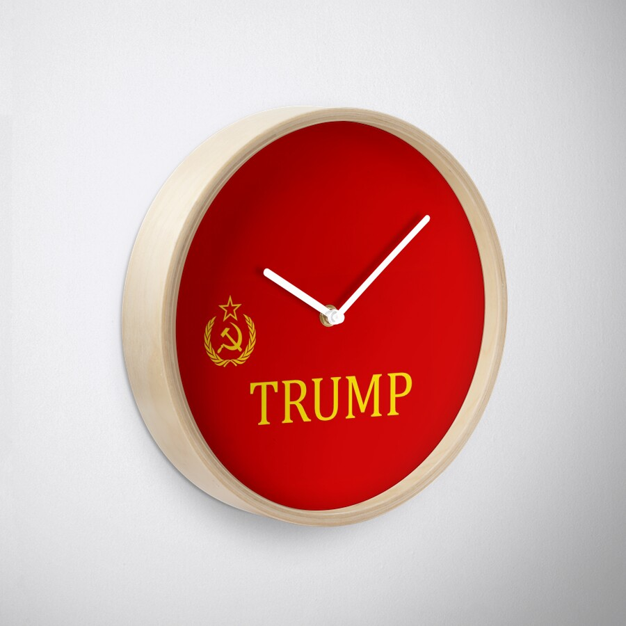 Hammer and sickle russian trump flag clocks by miahl redbubble hammer and sickle russian trump flag clocks amipublicfo Images