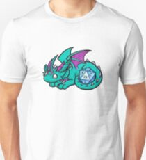 Turquoise Dice Dragon Unisex T-Shirt