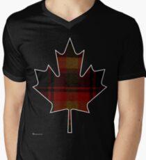 Canada's National Tartan in Maple Leaf  Men's V-Neck T-Shirt