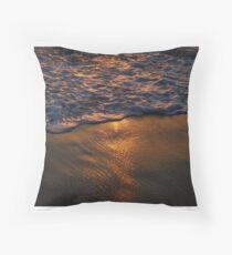 Foamy Waves Throw Pillow