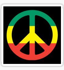 Reggae Peace Black Sticker