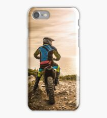 Enduro bike rider iPhone Case/Skin