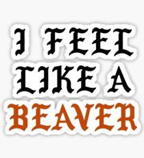 I Feel Like A Beaver Sticker