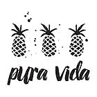 Pura Vida Pineapples in Black by Erin Morris
