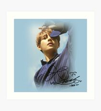 V BTS with Signature Art Print