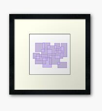 'Cubicle' Abstract Minimalist Artwork Framed Print