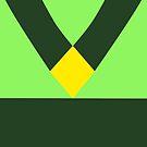 Minimalist Peridot Uniform / Yellow Diamond (Steven Universe inspired) by RiftwingDesigns