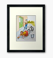 Short-sighted Sid. Framed Print