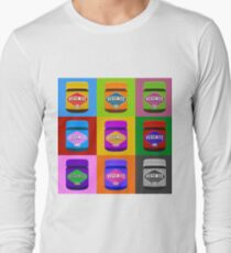 warhol style image of vegemite jars Long Sleeve T-Shirt