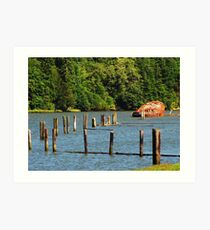 I Know There's A Story, Coos Bay, Oregon Art Print