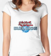 Yu-Gi-Oh! Duel Links logo Women's Fitted Scoop T-Shirt