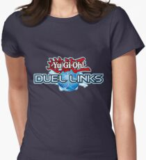 Yu-Gi-Oh! Duel Links logo Women's Fitted T-Shirt