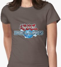 Yu-Gi-Oh! Duel Links logo Womens Fitted T-Shirt