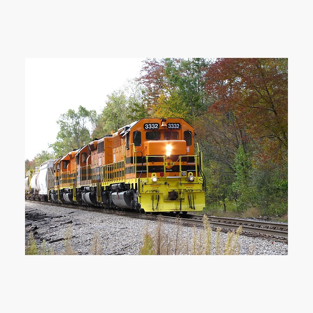 Fall Train in Color Photographic Print