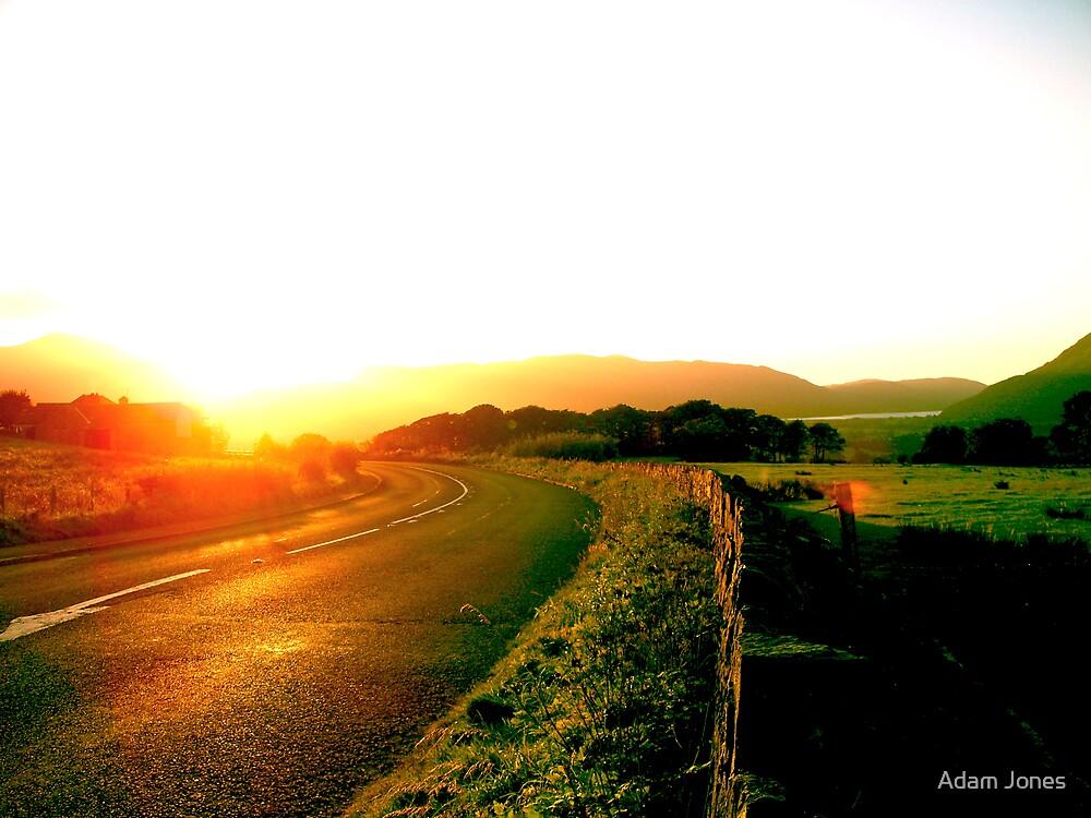 Lake District, Evening Road by Adam Jones