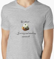Try and steal my sweetroll! Mens V-Neck T-Shirt